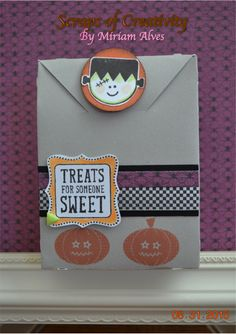 """Halloween treat boxr with CTMH  """"Trick or Treat Sweets"""" stamp set"""