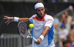 Feliciano Lopez of Spain.  Australian Open, January 2012.  #tennis