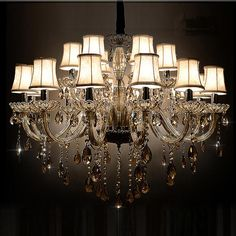 18 Lights Traditional Luxury Large Crystal Ceiling Chandelier , Classical Glass Chandelier For Lobby From Jianer001, $554.14 | Dhgate.Com