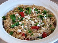 For the Love of Cooking » Orzo with Green Beans, Grape Tomatoes and Feta Cheese