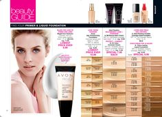 Many colors and formulas of foundation for your face. Magix - primer, hide imperfections; Anew Age Transforming Liquid Foundation, BB cream for moisture and coverage; CC cream with SPF50 moisture and coverage; Ideal Flawless Invisible Coverage; Extra Lasting Liquid Foundation that stays fresh for 18 hours. C6
