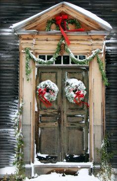 Rustic Christmas Door