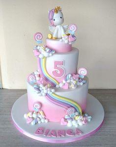 - Unicorn Cake Bolos Unicórnio Cakes Licorne K?e Pasteles Mga Happy Birthday Kuchen, Birthday Cake Girls, Unicorn Birthday Parties, Unicorn Party, Food Cakes, Cupcake Cakes, Savoury Cake, Cute Cakes, Party Cakes