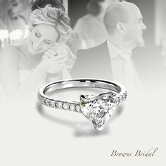 Browns Bridal. A collection of Engagement Rings. Heart Diamond Ring.