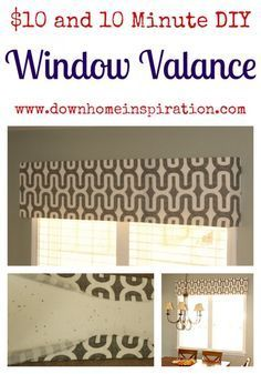 hang a valance without a curtain rod use adhesive velcro Bathroom Window Curtains for Short Bathroom Window Curtain Ideas