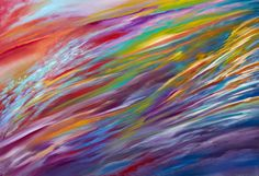 """Abstract painting, abstract wall art, large wall art, acrylic painting, original painting, original art """"Intense Ascension"""" by Sagi Leibman"""
