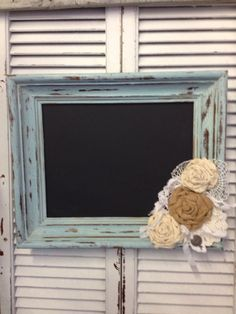 Repurposed chalkboard frame