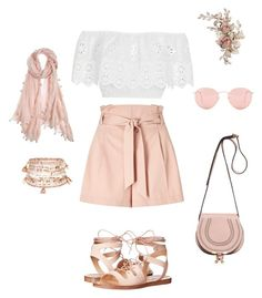 """Untitled #7"" by cristofipinelopi on Polyvore featuring Miss Selfridge, Miguelina, Steve Madden, Ray-Ban, Accessorize, Chloé and Chan Luu"