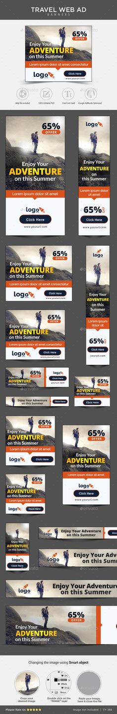 Travel Banners | Download: http://graphicriver.net/item/travel-banners/11051490?ref=ksioks