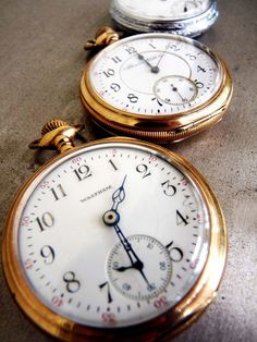 "Both our boys were given ""hand-me-down"" pocket watches on their wedding days by their father."