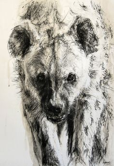 Discover great art by contemporary artist Hyane. Browse artworks, buy original art or high end prints. Animal Sketches, Animal Drawings, Hyena Man, Hyena Tattoo, Wolf Hybrid, African Wild Dog, Galerie D'art En Ligne, Creature Drawings, Wild Dogs