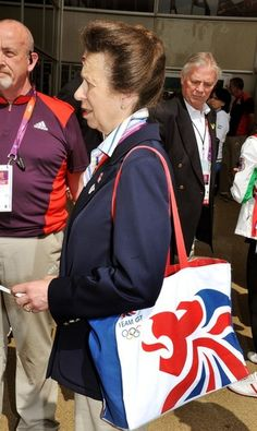 Princess Anne at Olympic Park 28 July 2012