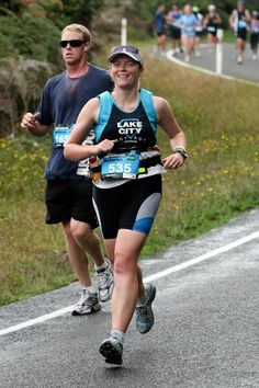 Me in the Rotorua Marathon 2010