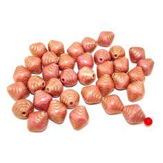 18 Glasperlen Muscheln   Rosa Gold veredelt   10x9mm *pe1201 - JAUL.biz Perlen und Glas