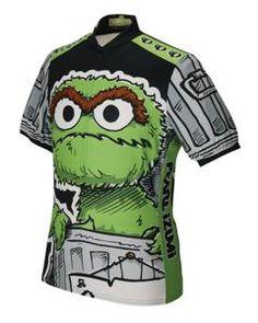 Oscar the Grouch Sesame Street cycling jerseys