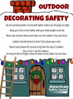 American Safety Council outdoor safety tips for the holidays! Outdoor Xmas Lights, Outdoor Christmas Decorations, Outdoor Decor, Cherry Mash Candy Recipe, Ipad Mini, Give Me Home, Ballard Designs, Geek Gifts, Last Minute Gifts