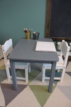 IKEA Hack Kids Table And Chairs Fancy Ashley DIY