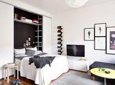 soluciones almacenaje decoración decoración práctica decoración piso pequeño estudio decoración mini pisos decoración interiores estilo nórd...