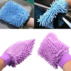 Car Cleaning Gloves Microfiber Chenille Single Sided Car Wash Gloves Car Wash Car Wash Gloves Harmonious Colors Car Wash Accessories