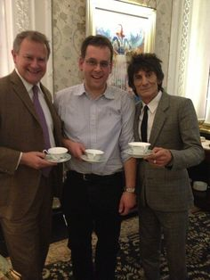 Lovely day, great company with @hughbon and Volker Lorenz & his guest Ulrich #afternoontea for @MerlinUK