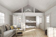 Small Space Living, Small Spaces, Tiny Loft, Attic Bedrooms, Loft Room, Cabin Interiors, Living Styles, Loft Spaces, Interior Design Living Room