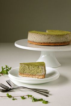 Matcha Black Sesame Cheesecake - Oh Sweet Day!