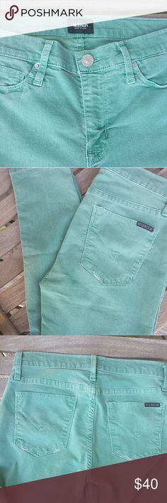 Hudson Skinny Jeans Super cute color! The threading is a little worn on pockets but who doesn't love the naturally distressed look. Hudson Jeans Jeans Skinny