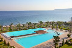 Honeymoon in Rhodes Greece. The Ixian Grand Beach Hotel, Ixia, Rhodes Greece. An amazing hotel in Ixia, Rhodes, exactly by the deep blue sea. Top 10 Hotels, Hotels And Resorts, Best Hotels, Luxury Hotels, Top Destinations, Holiday Destinations, Honeymoon Hotels, Honeymoon Ideas, Greek Culture