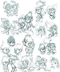 Trolls Sketches (Spoilers) by sharkie19 on DeviantArt