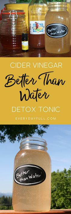 Better Than Water Morning Detox Tonic for Health and Weight Loss