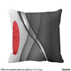 Pillow in modern abstract style