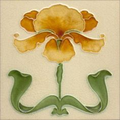Art Nouveau stylized Ceramic Tiles  ref An59