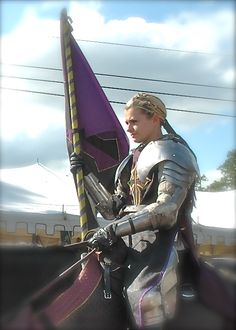 A young female knight at Connecticut's spring Renaissance Faire.