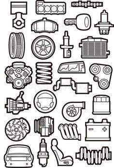 Automotive Shops, Car Photos, Shirt Designs, Stock Photos, Illustration, Contours, Cutaway, Robotics, Motion Graphics