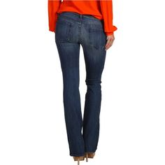 Genetic Denim The Riley Slim Boot Cut in Sunrise Women's Jeans, Yellow ($141) ❤ liked on Polyvore