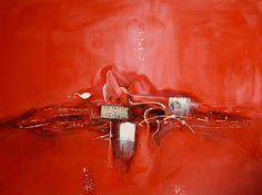 """cuadros abstractos """"Rojo en plenitud II"""""""