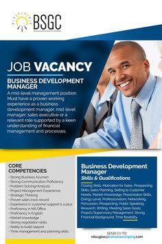 Job Vacancy - Business Development Manager