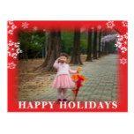 Snowfall Overlay Feathered Edges Christmas Photo Postcard