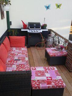 Leuk fleurig balkon