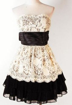 Lace Dress... I'd wear this with cute black strap wedges! Outfit!