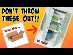 🌟SIMPLY AMAZING 🌟CARDBOARD BOX MAKEOVER!! come see!! EASY STORAGE DIY - YouTube Diy Storage, Storage Ideas, Shipping Boxes, Space Saving Storage, Come And See, Crafts, Amazing, Easy, Youtube