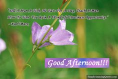 Good Afternoon #AfternoonPost #AfternoonQuote #AfternoonText #Afternoon #GoodAfternoon #InspirationalQuotes #MotivationalQuotes #LovelyQuotes #QuoteOfTheDay #ThoughtOfTheDay #QuotePics #Quotes #Quote #Saying  https://goo.gl/CWNkFa