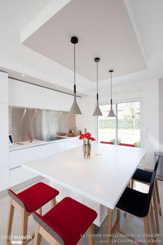 cuisine armony laqué blanc neige cette cuisine est séparé en trois