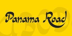 New free font 'Panama Road' by Fernando Haro · Free for personal use · Latest Fonts, Font Styles, Breathe Tattoos, Panama, Typography, Fresh, Letterpress, Panama Hat