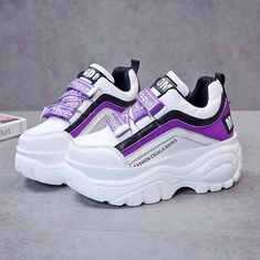 Chunky sneakers women white black patchwork high platform shoes woman casual autumn winter Shoes - patchwork high platform shoes woman casual autumn winter wedges footwear Source by - Chunky Sneakers, Shoes Sneakers, Women's Shoes, Shoes Style, Chunky Shoes, Boy Shoes, Hip Hop Sneakers, Shoes Jordans, Wedge Sneakers