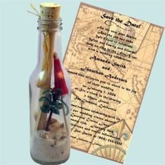 Beach Wedding Invitations: Message In Bottle Invitations, Save The Date, Thank You  http://www.invitationinabottle.com/Beach_Weddings_s/12.htm