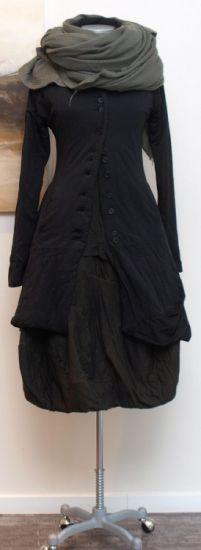 rundholz black label - Mantel Cotton Padded black - Winter 2014 - stilecht - mode für frauen mit format...