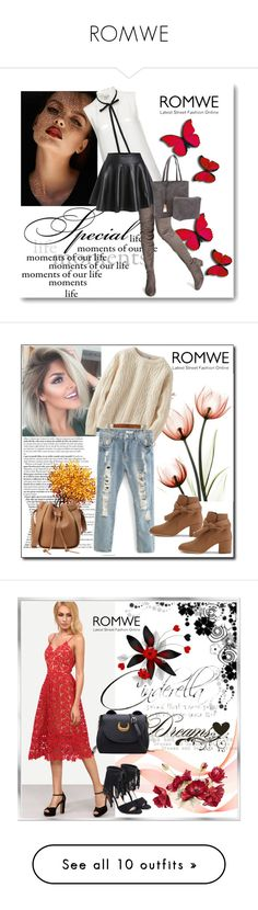 """ROMWE"" by woman-1979 ❤ liked on Polyvore featuring Frame, Uniqlo, WALL, Bobbi Brown Cosmetics, Yves Saint Laurent and Handle"