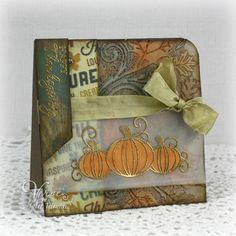Fall Pumpkin card - Poetic Artistry **love the gold embossed pumpkins**
