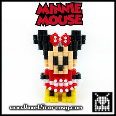 This+is+a+Minnie+Mouse+(Disney+Cartoon+Character)+I+made+in+the+cool+new+3d+perlerbead+art+style!+  Products+are+made+to+order+and+do+take+about+a+week+to+make+depending+on+the+order.  Please+Like+Voxel+on+Facebook! http://facebook.com/voxelperlers  (These+products+are+for+sale,+therefore+...